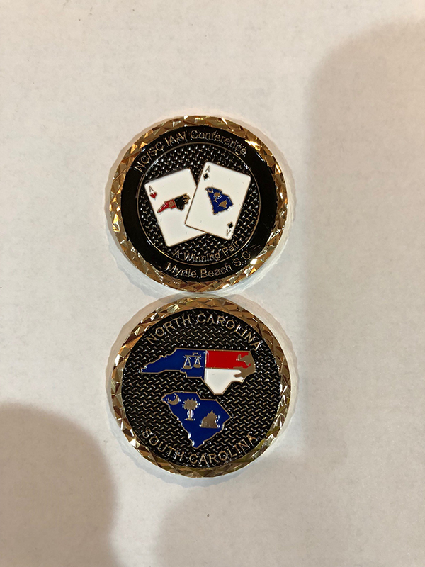 a winning pair challenge coin