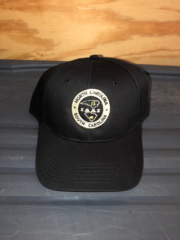 black joint chapter hat